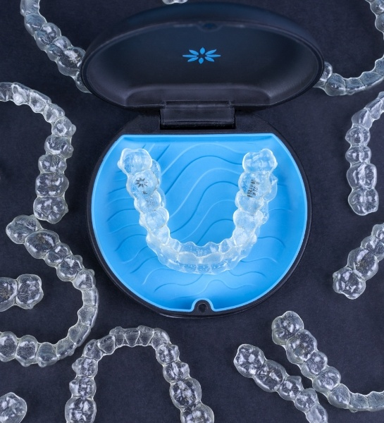 Woman with straight, healthy smile